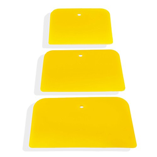 "3pc Flex Nylon Spreader Blades Beveled Edge for Bondo, Glue, Putty, Filler - 4"", 5"" & 6"""