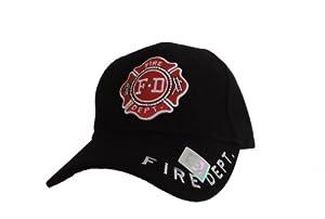 Fire Department Black Adjustable Baseball Cap