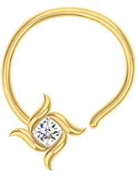 TBZ - The Original Solitaire 18k Yellow Gold And Diamond Nosepin - B01BD4NBZC