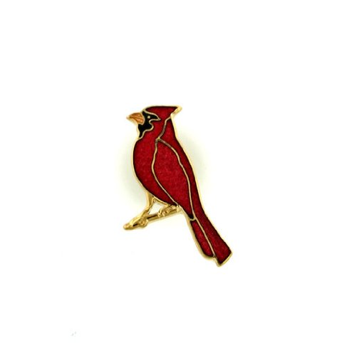 Hand enameled cardinal lapel pin or jewelry pin