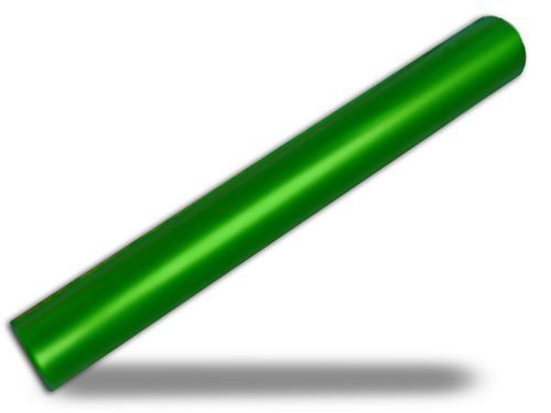 CSI Green Aluminum Track Relay Baton