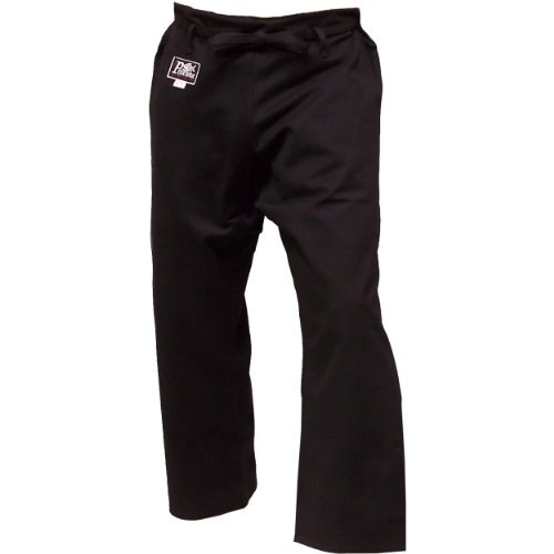 Karate Gi Uniform Pants, 14 oz Black (5) (Piranha Gear Tie compare prices)