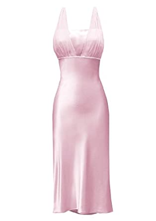 Satin Chiffon Holiday Bridesmaid Knee-length Formal Gown Crystals Junior Petite Plus - Pink - XS