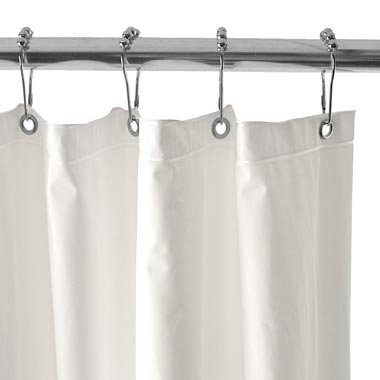 54 Inch By 78 Inch Premium Weight Stall Shower Curtain Liner White Shower Curtains Outlet