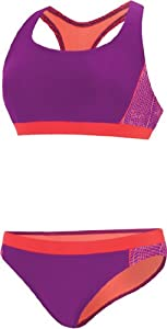 Buy Speedo Watergrid Splice Bikini Set Female by Speedo