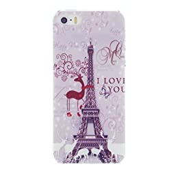 CaseBee - Christmas Reindeer Eiffel Tower iPhone 5 / 5S Case - AT&T, Verizon, Sprint, T-Mobile (Package includes Screen Protector)