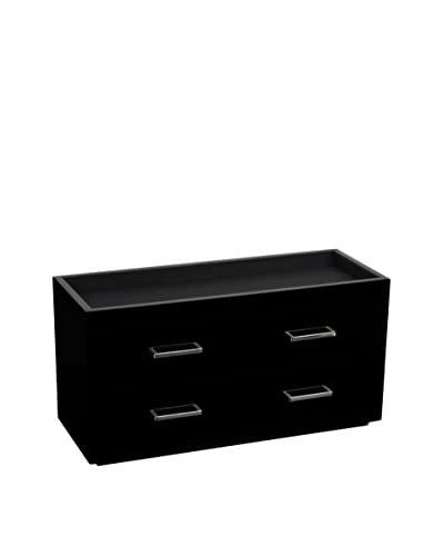 WOLF Meridian Two-Drawer Valet, Charging Station & Pen Box, Black