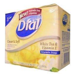 Dial Glycerin Soap White Tea & Vitamin E- 3 Bars