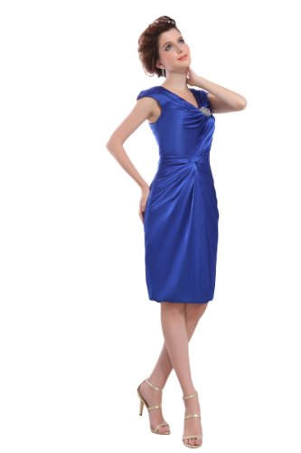 31l5wtUvNZL Amazon: Topwedding Elastic Satin V Neck Party Dress with Beads