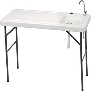 Portable Camp Fish Cleaning Table with Faucet by Kotulas