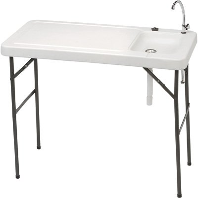 Portable Camp Fish Cleaning Table With Faucet Aurora
