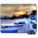 .DAWN LIGHT IN WINTER. Mouse Pad, Mousepad (Winter Mouse Pad)
