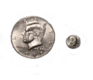 Mini Coin - 50 Cent Piece (Half Dollar)