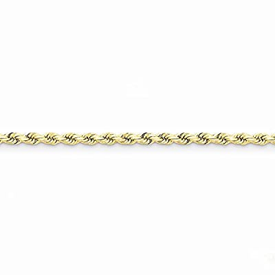 14k Gold 4mm D/C Rope with Lobster Clasp Chain 9 Inches