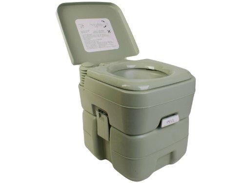 Goplus 5 Gallon Portable Toilet Flush Travel Outdoor Camping Hiking Toilet Potty 20L front-73655