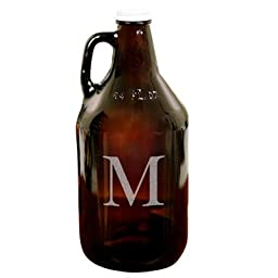 GiftsForYouNow Engraved Initial Beer Growler, 11\