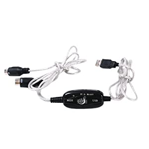 HDE USB MIDI Cable Converter PC to Music Keyboard
