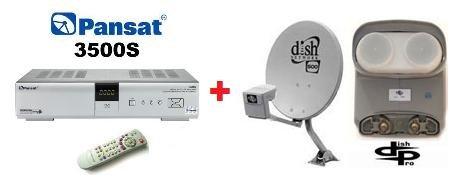 FTA Dish - PANSAT 3500 FTA SATELLITE RECEIVER + DISH 500 DISH PRO TWIN LNB