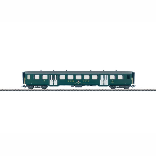 Marklin HO Scale Type B 2nd Class Lightweight Steel Passenger Car with Double Doors