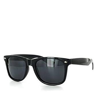 Wayfarer Style Sunglasses Dark Lens Black Frame