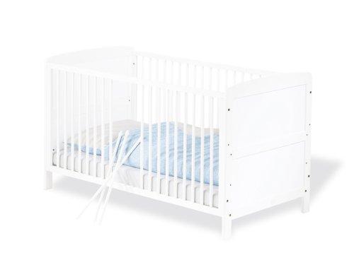 Pinolino-111422-Kinderbett-Viktoria-140-x-70-cm-mit-3-Schlupfsprossen-Buche-teilmassiv-wei