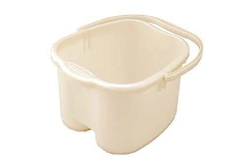 Inomata Pearl Foot Detox Massage Spa Bucket, White (Plastic Soaking Tub compare prices)