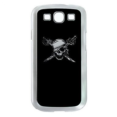 Peach-Pirate Skull Pattern Led Lighting Hard Case With Retail Box For Samsung Galaxy S3 I9300