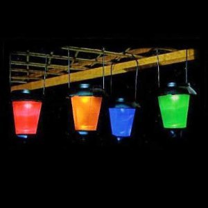 Coloured solar lanterns