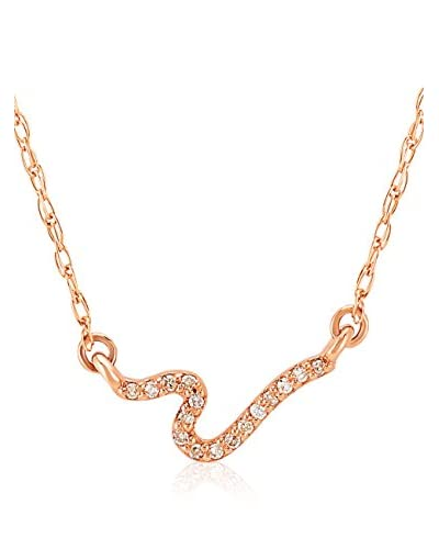 Divas Diamond Set catenina e pendente Diamond Gold