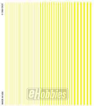 Woodland Scenics Dry Transfer Decals Stripes Yellow - 1