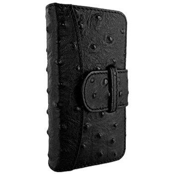 Best Price Apple iPhone 5 / 5S Piel Frama Black Ostrich Leather Wallet