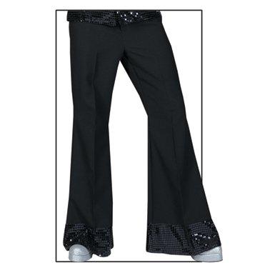 Mens Sequin Black Disco Pants Halloween Costumes STD 44