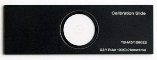 Omax X-Y 0.01Mm Aluminum Microscope Calibration Slide