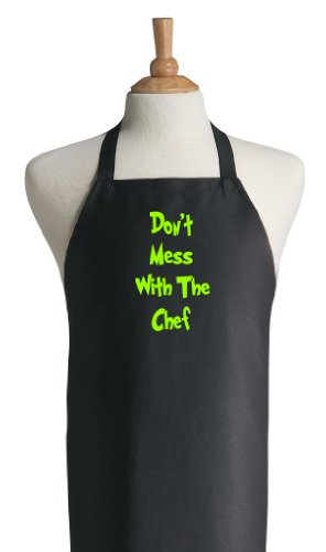 Don't Mess With The Chef Funny Black Cooking Aprons