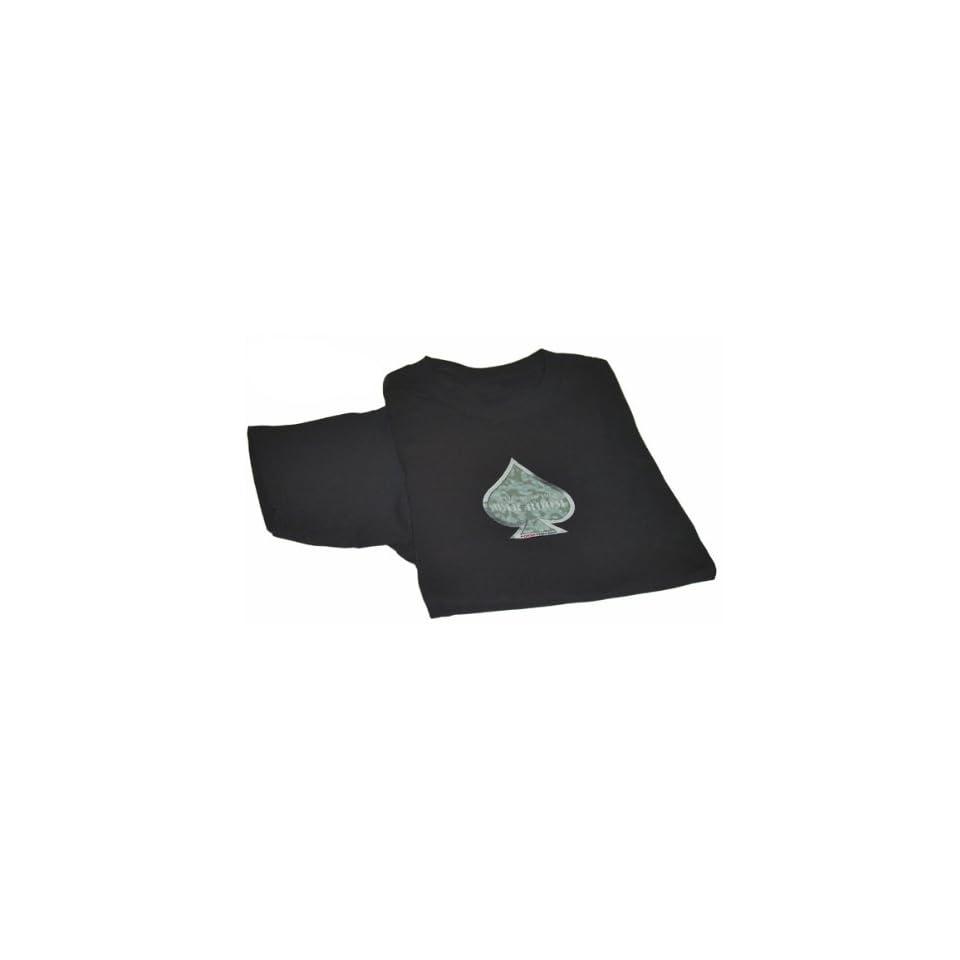 Black Camouflaged Spade T Shirt
