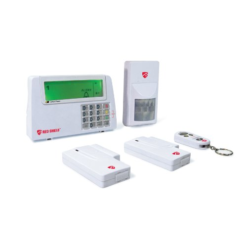 red shield ws 100 diy wire free home protection alarm