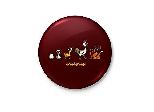 Alter Ego Evolution of Chicken Funny Minimalist Badge