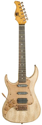 Axl Badwater Sro Left Hand Electric Guitar, Â3/4 Size, Crackle Brown/White