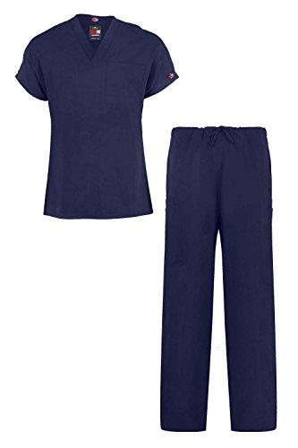 MediFit Men's Basic Solid Two Piece Medical Top & Pants Scrub Set(MENSET-MED,DBL-M)