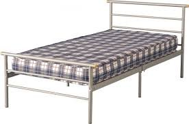Single bed - 3ft Steel Frame With Silver Finish - STRONG BASE