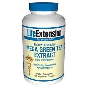 Life Extension Mega Green Tea Extract 98% Polyphenols, Vegetarian Capsules, 100-Count