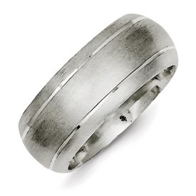 Genuine IceCarats Designer Jewelry Gift Sterling Silver 9Mm Satin Finish Band Size 7.00