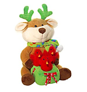 AVON Plush - Reindeer Duets With Chirping Birds - 1