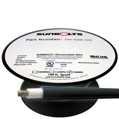100' 14-Gauge Photovoltaic Solar Cables - Black