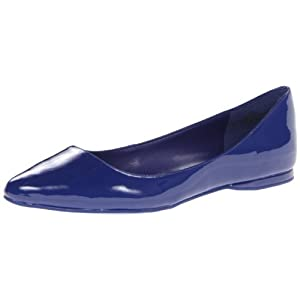Nine West Women's Speakup Ballet Flat,Dark Blue Synthetic,8.5 M US