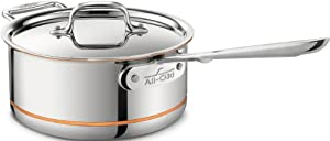 All-Clad 6203 SS Copper Core 5-Ply Bonded Dishwasher Safe 3-Quart Saucepan with Lid / Cookware, Silver