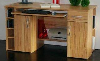 3-3-2-421: made in BRD – Computertisch – PC-Tisch – kernbuche dekor – Bürotisch – Schreibtisch jetzt bestellen