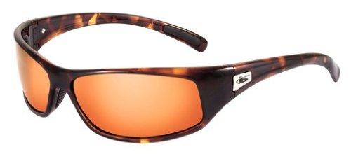 Bolle Rattler Sunglasses, Dark Tortoise with Polarized Inland Gold Lens