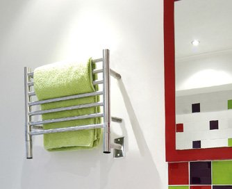 Jeeves H Straight Polished Towel Warmer By Amba