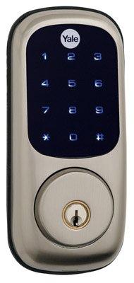 Yale Security Yrd220-Nr-619 Electronic Deadbolt Lock, Satin Nickel - Quantity 1